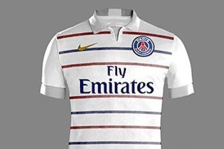 Les nouveaux maillots du psg saison 2015 2016 en exclu for Maillot psg exterieur 2016